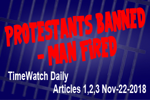 Protestants Banned man fired pt2